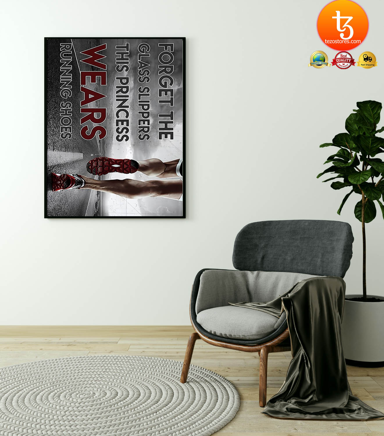 Forget the glass slippers this princess wears running shoes poster 4