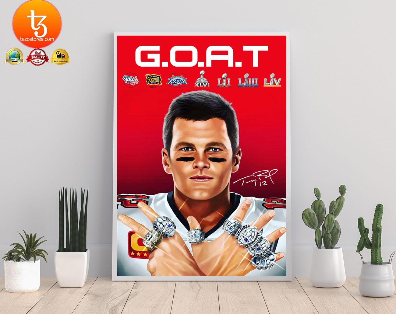 GOAT brady 2021 poster