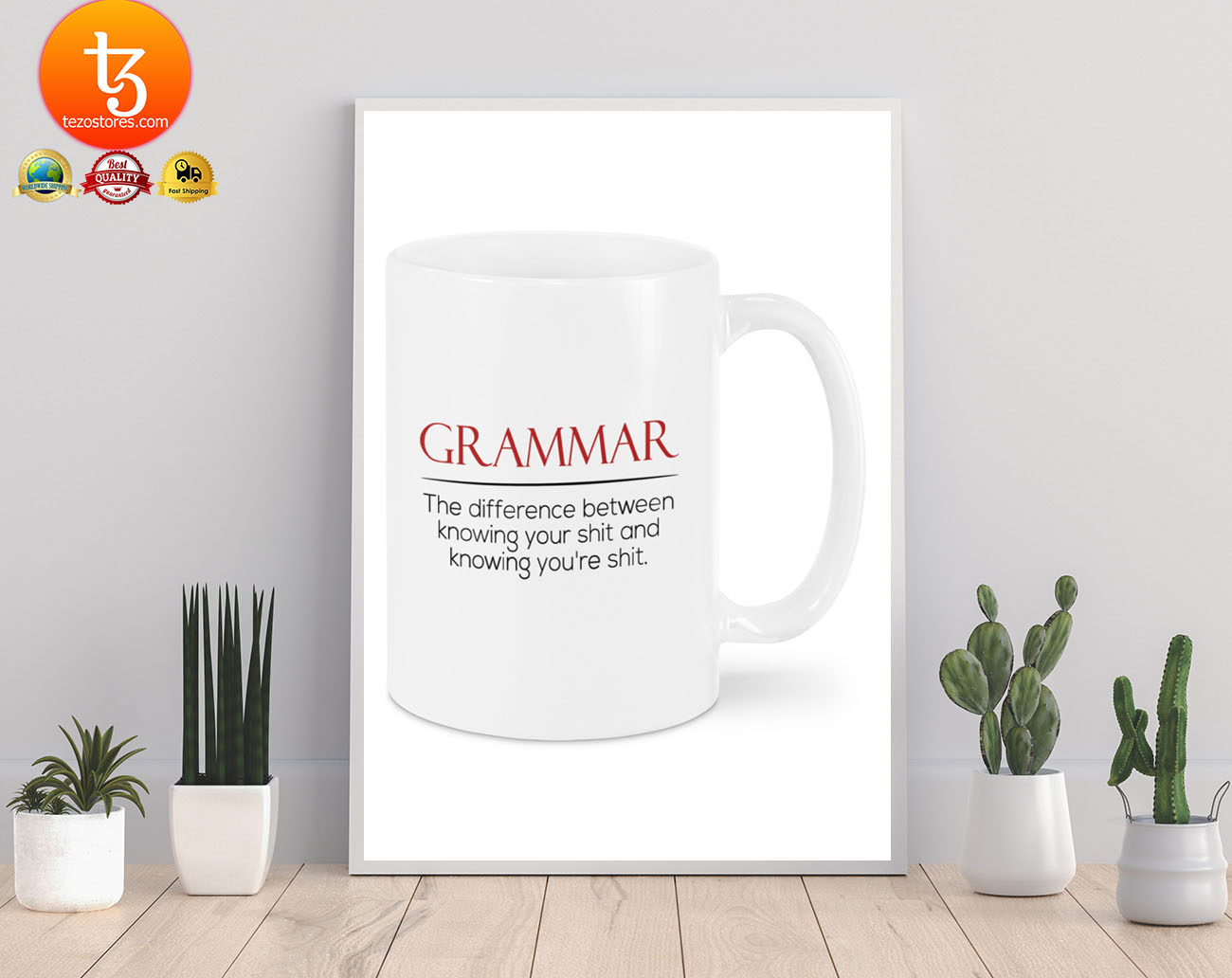 Grammar the difference between knowing your shit and knowing you're shit mug 21