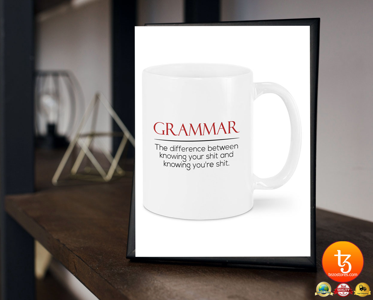 Grammar the difference between knowing your shit and knowing you're shit mug 17
