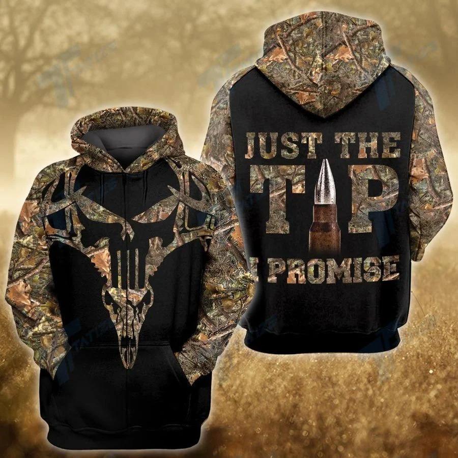Hunting deer just the tip I promise 3D hoodie