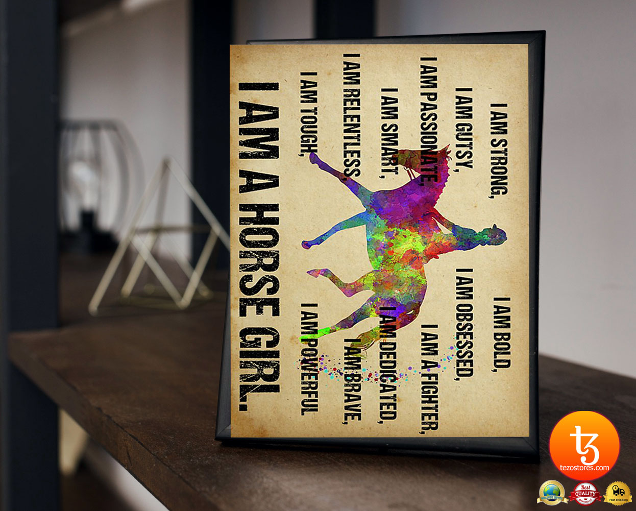 I am strong I am a horse girl poster