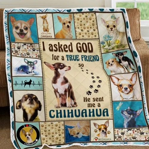 I ask God and he send me chihuahua bedding set