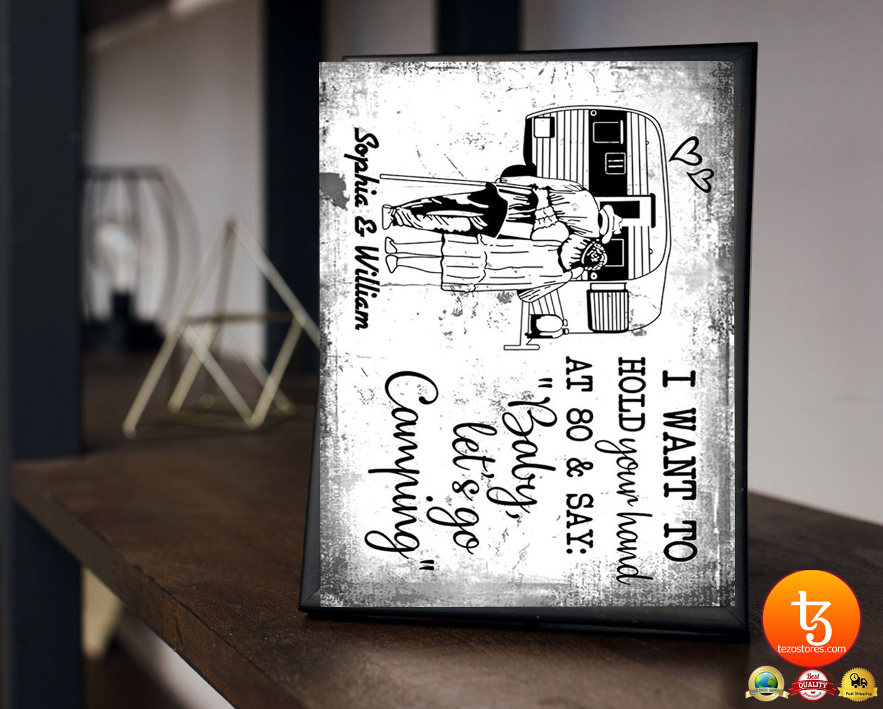 I want to hold your hand at 80 & say baby let's go camping poster 23