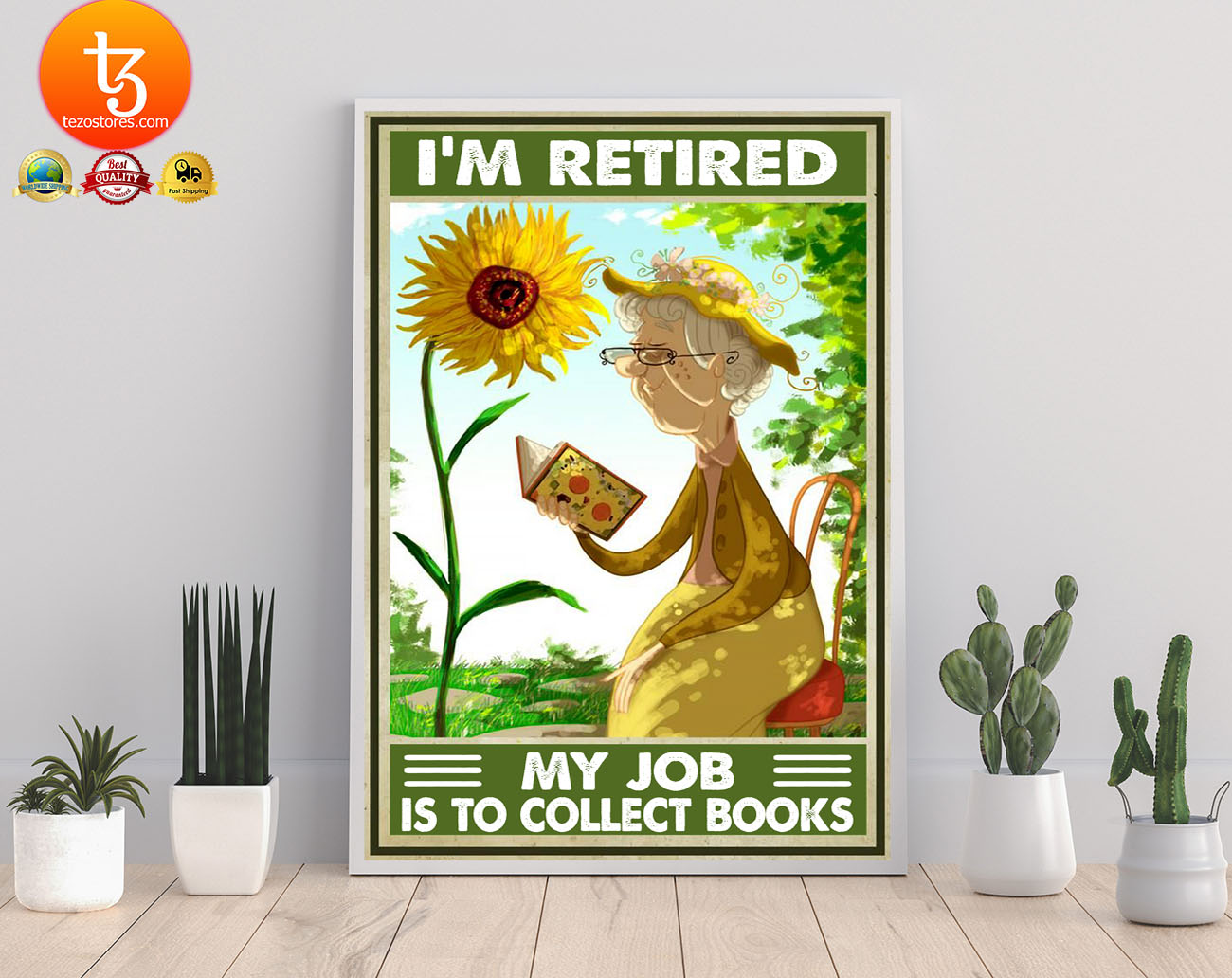 I'm retired my job is to collect books poster 21