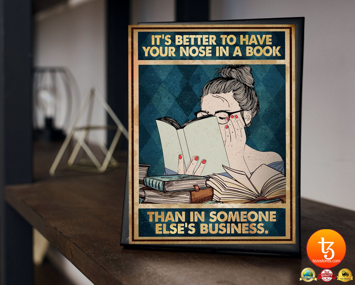 It's better to have your nose in a book than in someone else's business poster 19