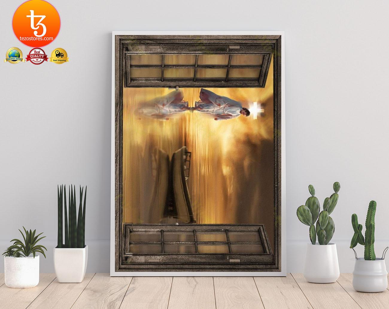 Jesus through the window poster 17