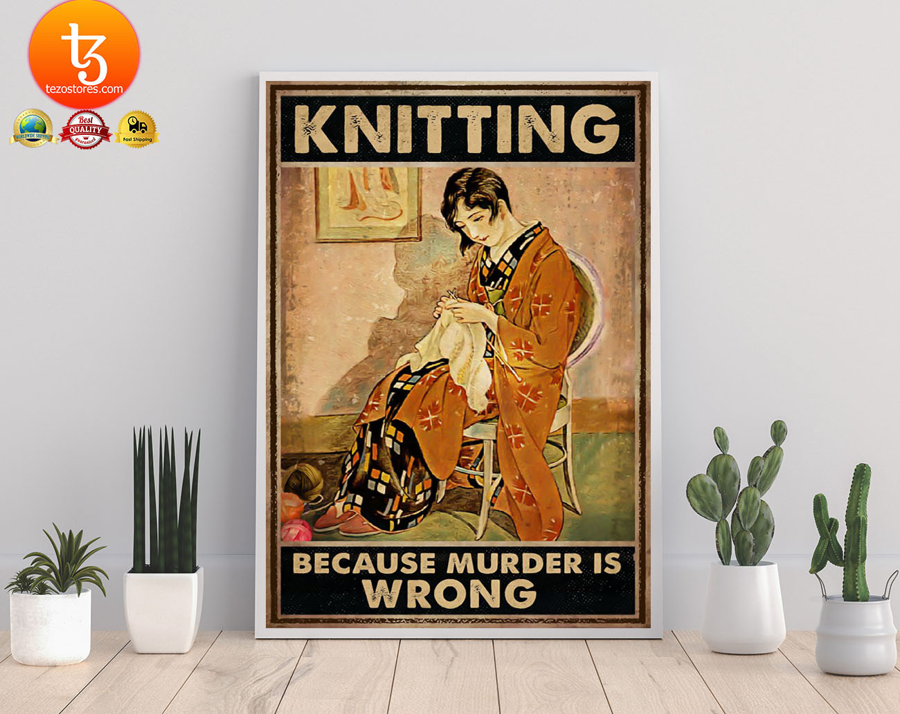 Knitting because murder is wrong poster 21