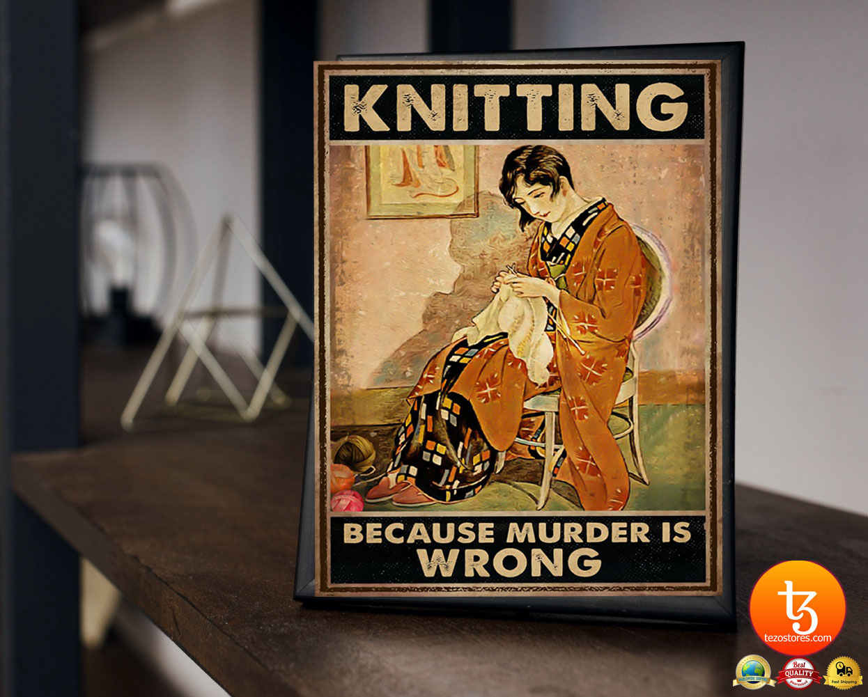Knitting because murder is wrong poster 2