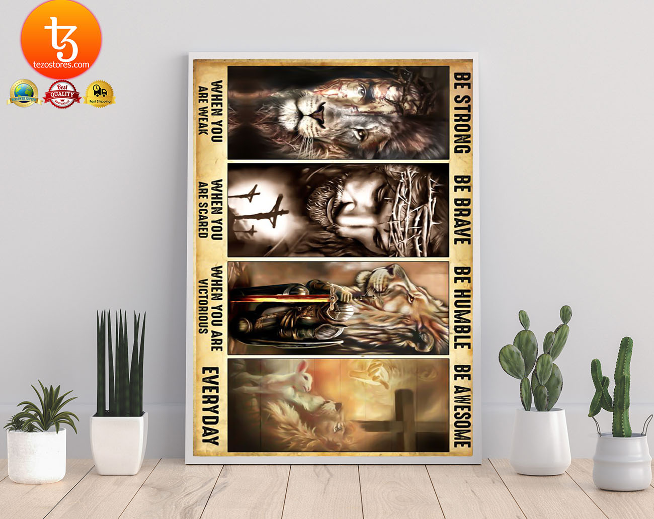 BoLamb of god lion of judah be strong be brave be humble be awesome poster 21