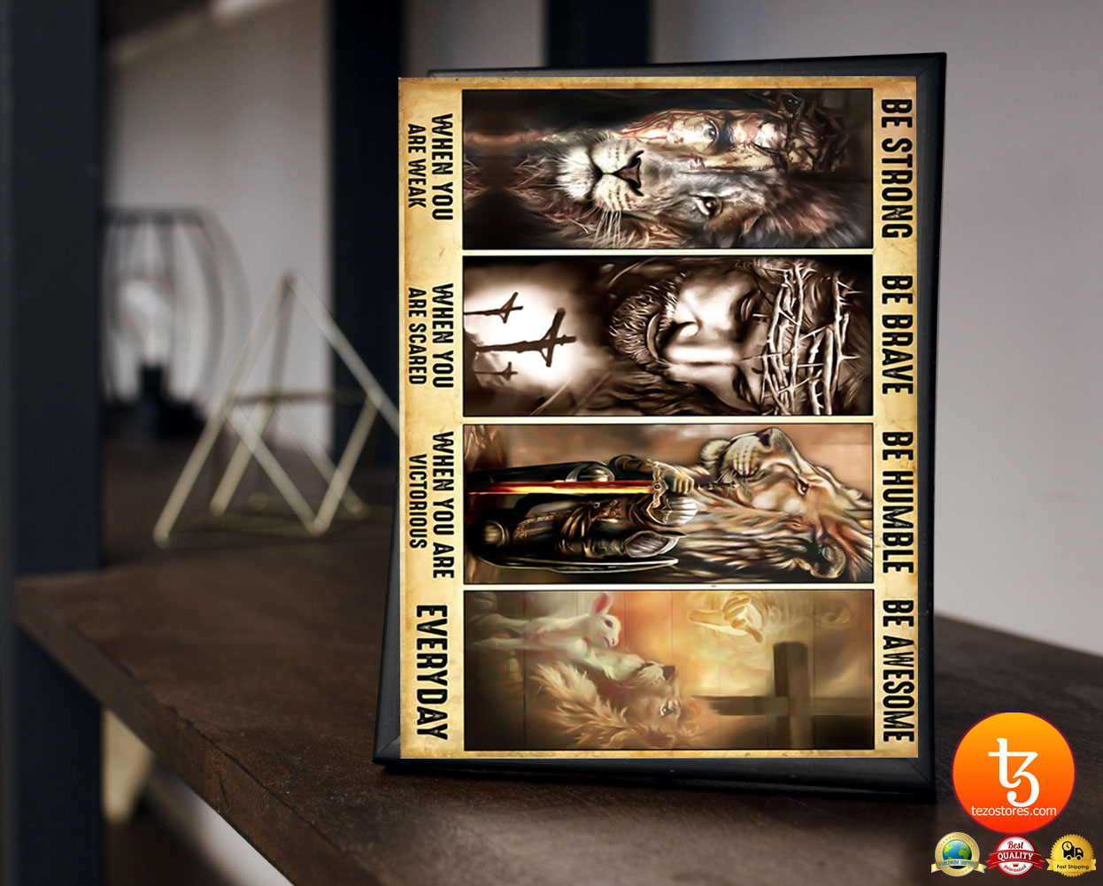 BoLamb of god lion of judah be strong be brave be humble be awesome poster 19