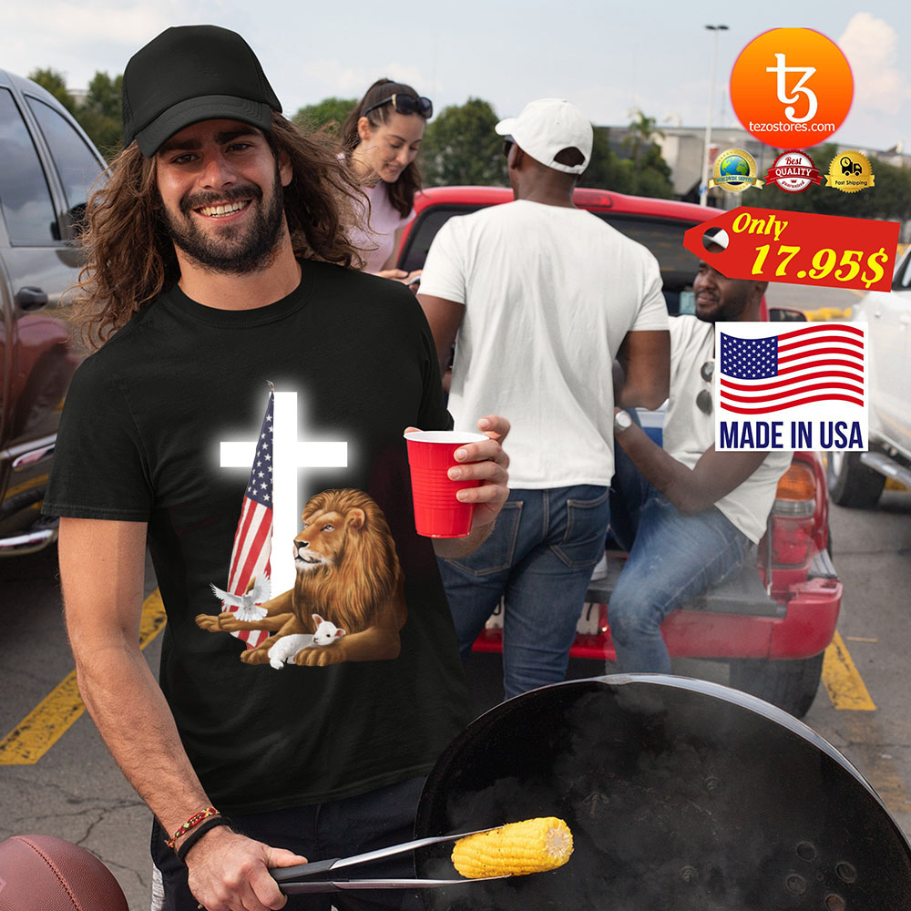 Lion God and Lamb American flag shirt 21