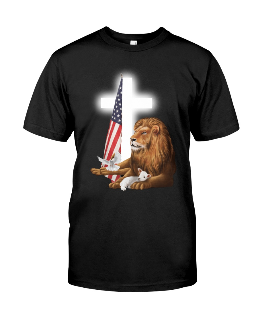 Lion God and Lamb American flag shirt 23