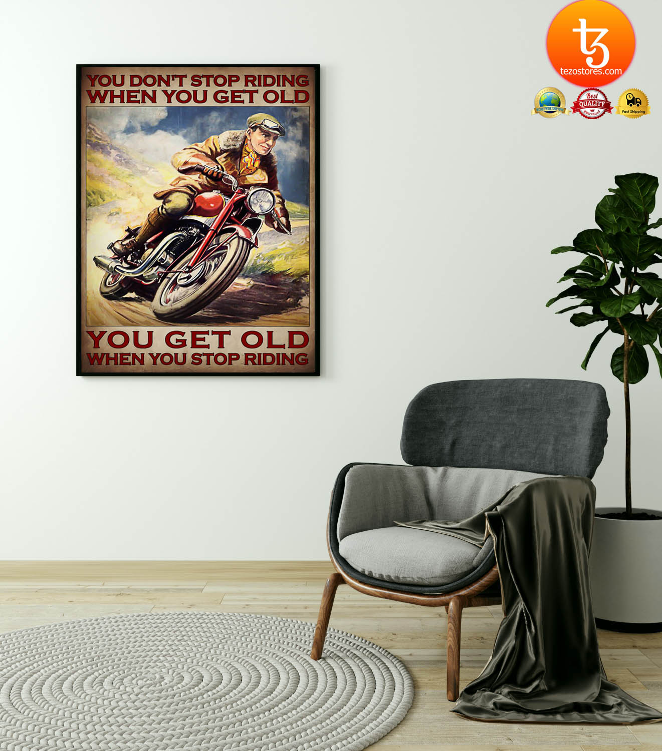 Man You don't stop riding when you get old poster 23