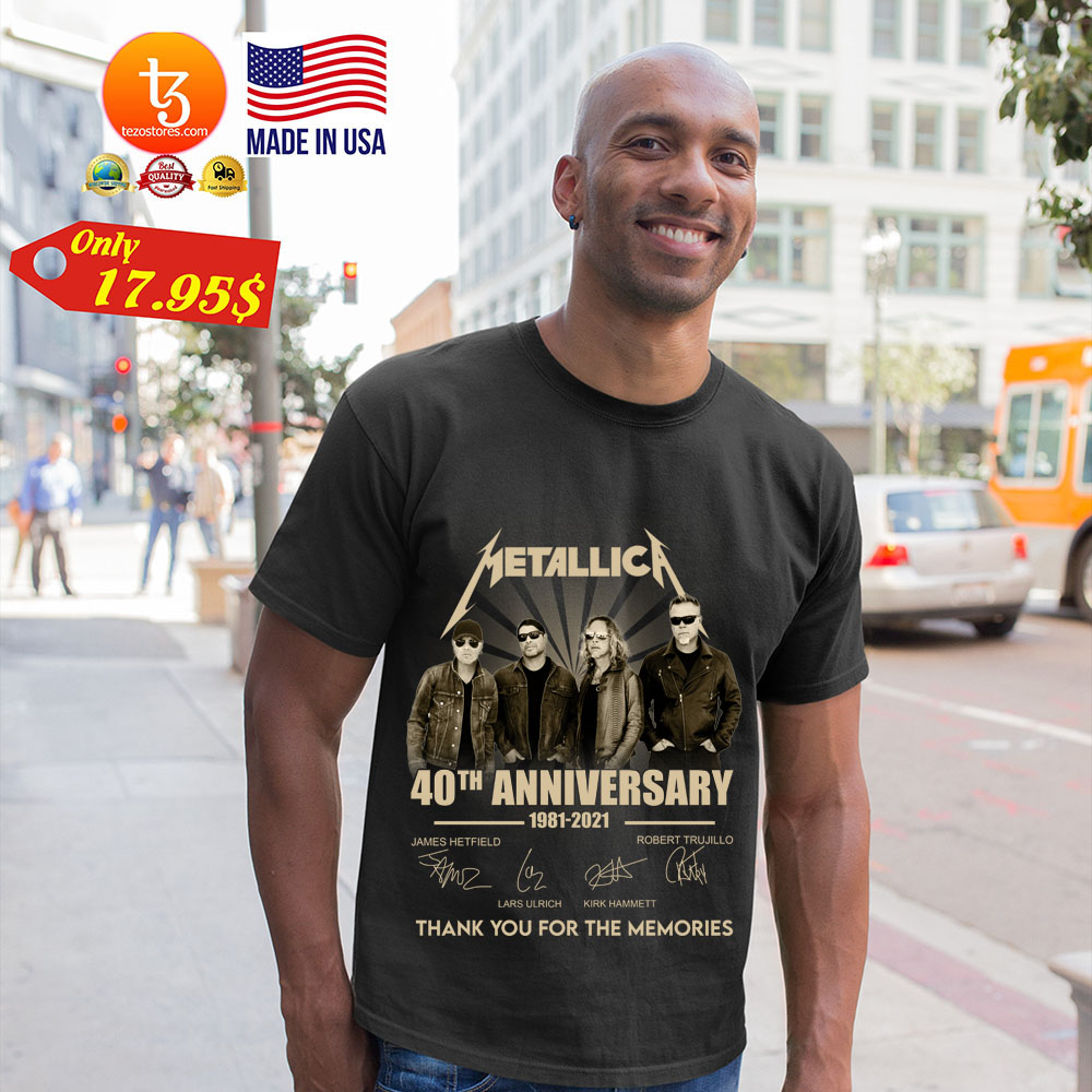 Merallic 40th anniversary 1981 2021 thank you for the memories shirt 23
