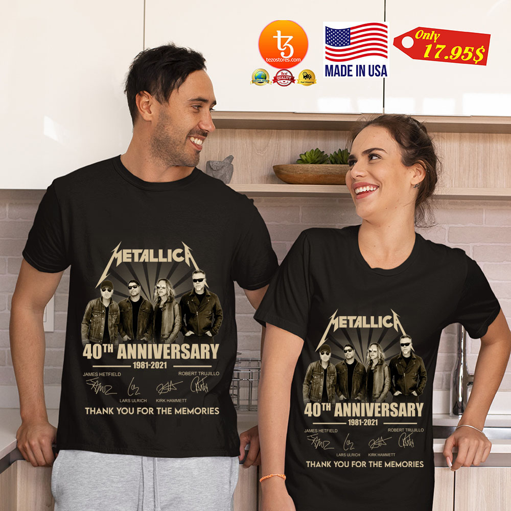 Merallic 40th anniversary 1981 2021 thank you for the memories shirt 21