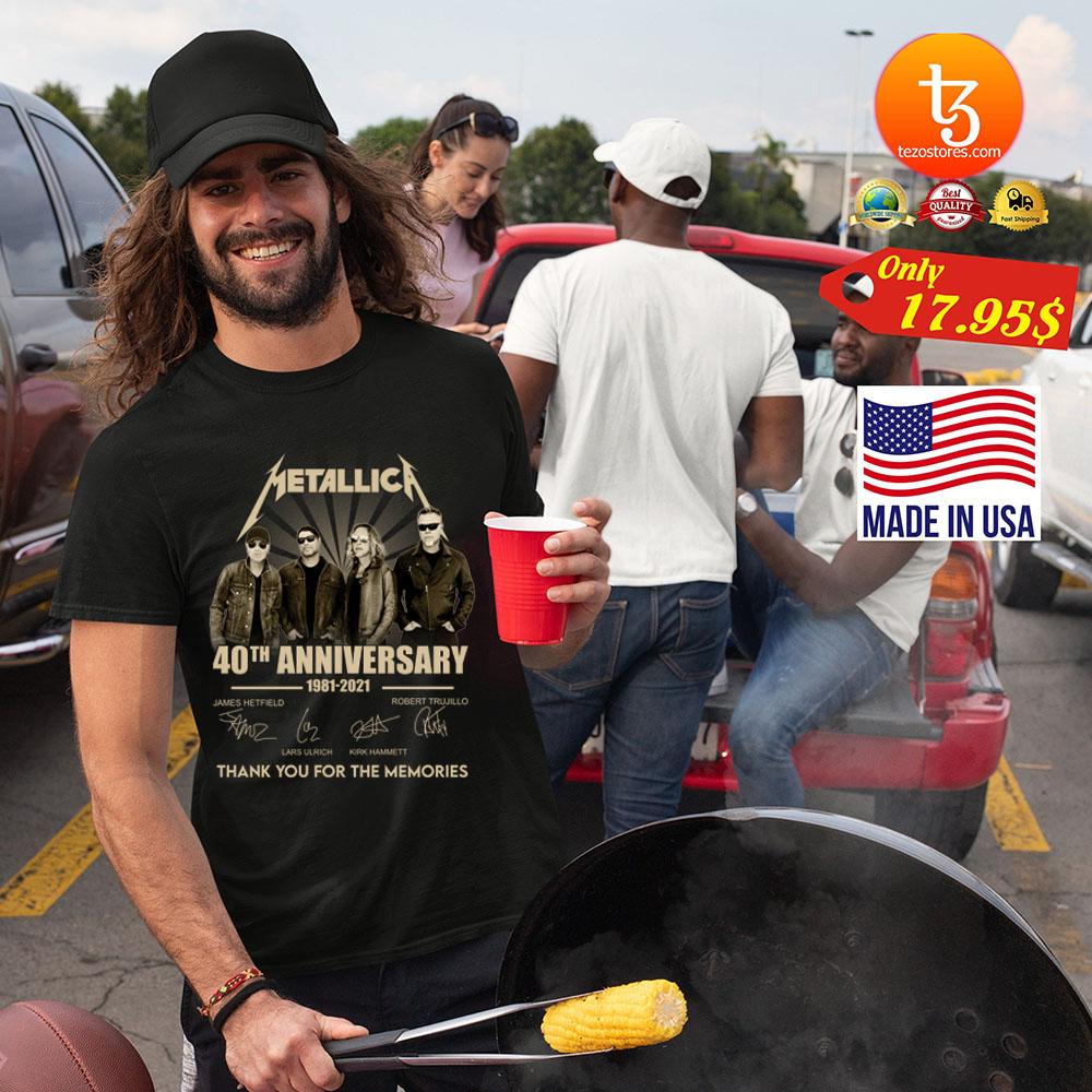 Metallica 40th anniversary 1981 2921 tank you for the memories Shirt 23
