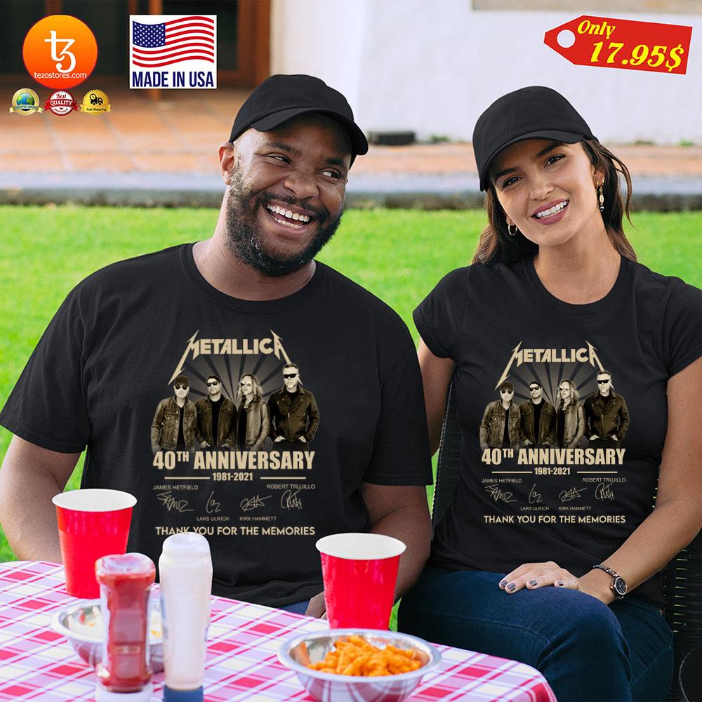 Metallica 40th anniversary 1981 2921 tank you for the memories Shirt 11