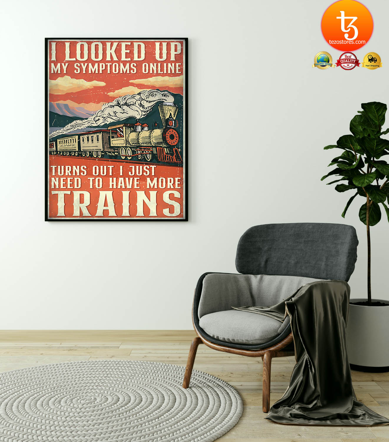 Model railroad looked up my symptoms online poster 4