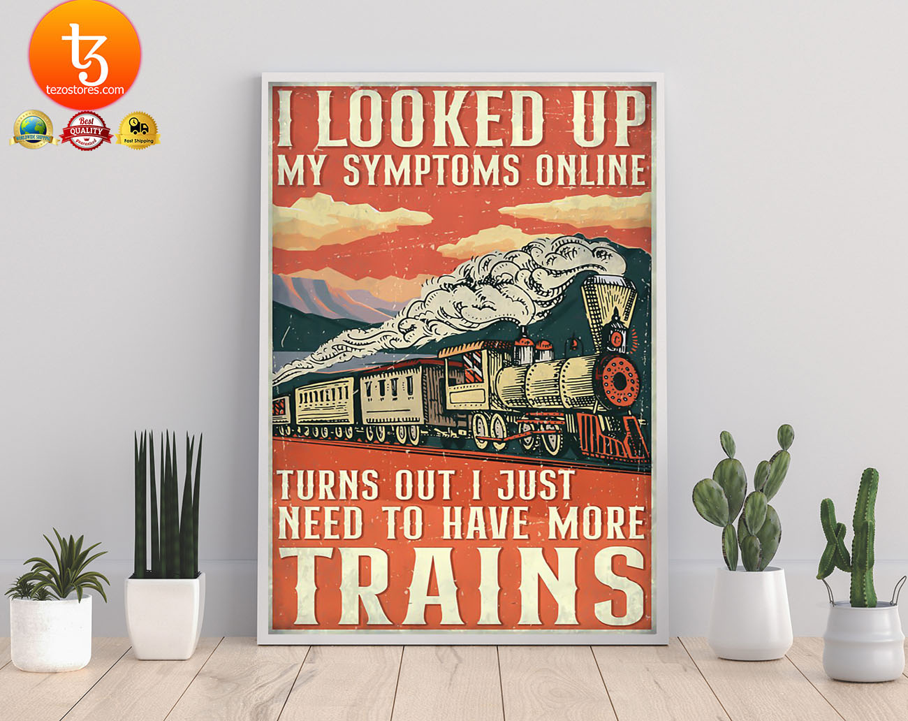 Model railroad looked up my symptoms online poster 3