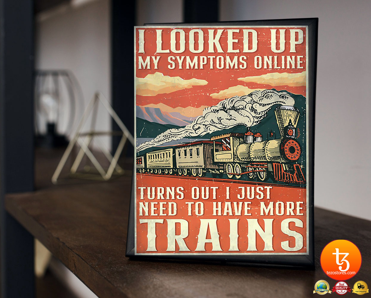 Model railroad looked up my symptoms online poster 2