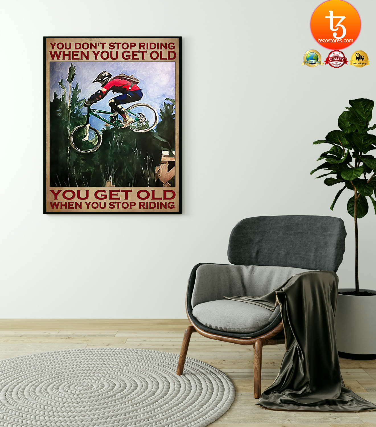 Mountain Biking You don't stop riding when you get old poster 21
