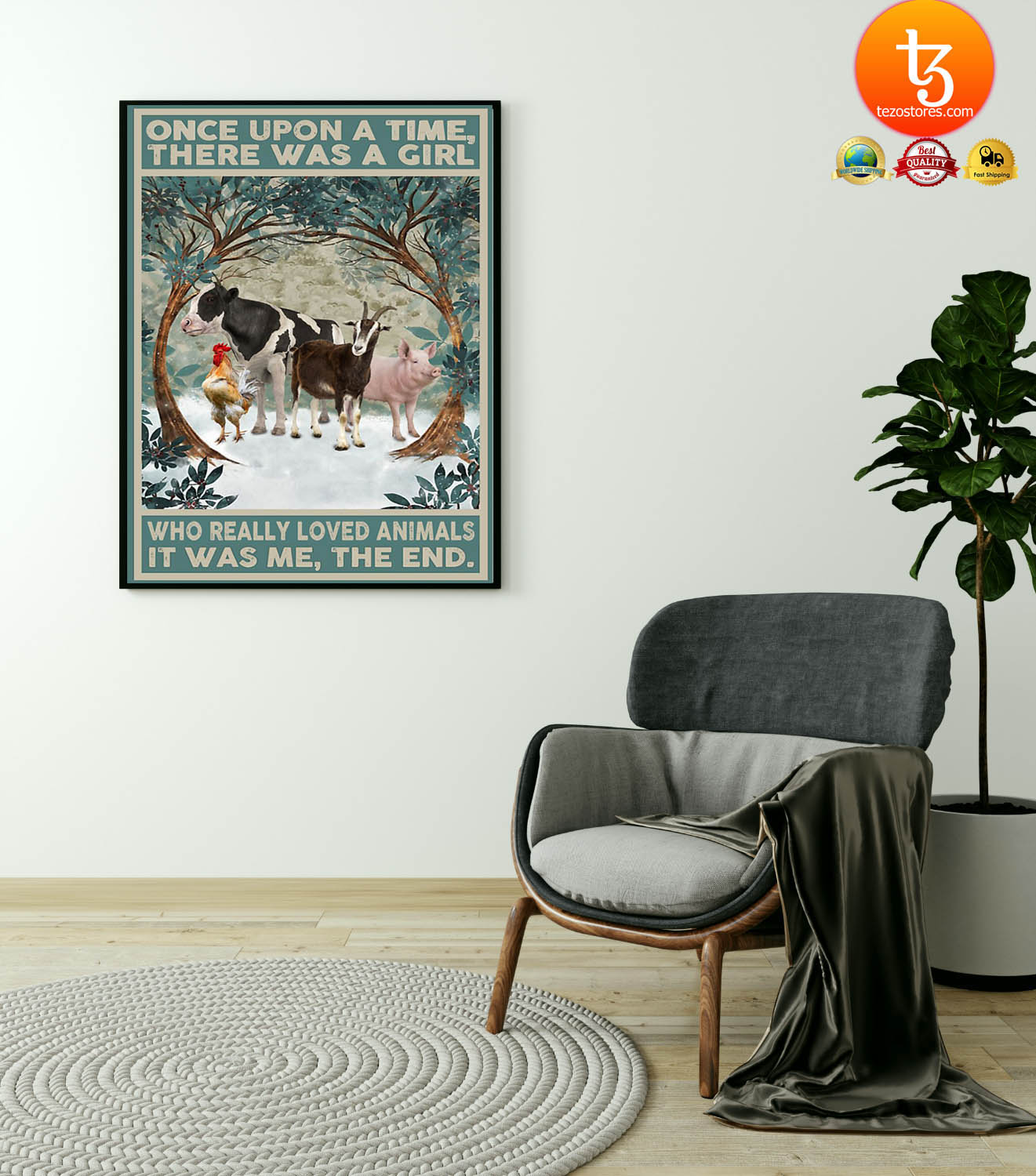 Once upon a time there was a girl who really loved animals poster 4
