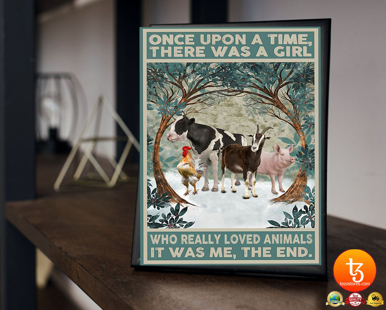 Once upon a time there was a girl who really loved animals poster 3