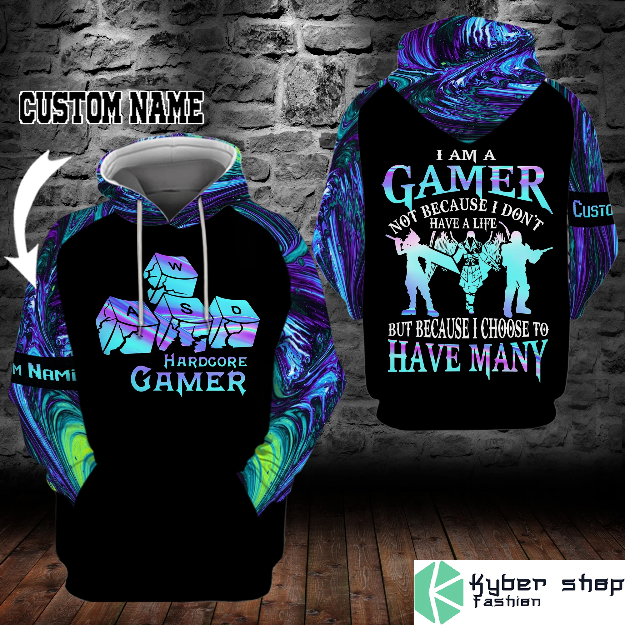 PC I'm a gamer not because I don't have life custom name 3D hoodie