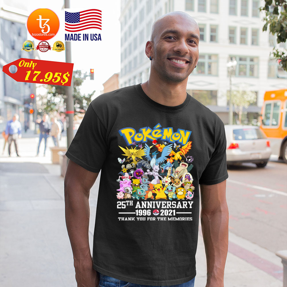 Pokemon 25th anniversary 1996 2021 thank you for the memories Shirt 19