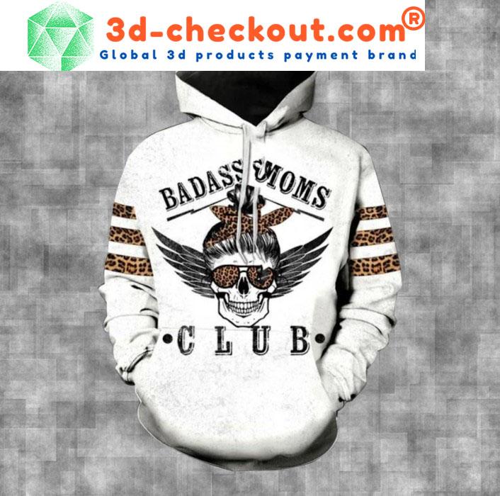 Skull badass moms club 3D hoodie and legging 1