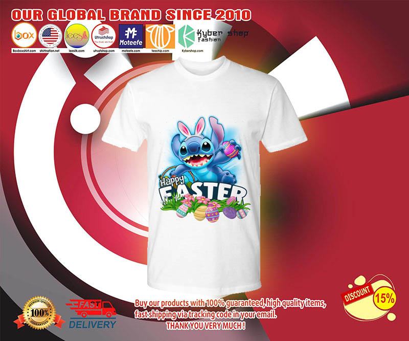 Stitch happy easter day shirt