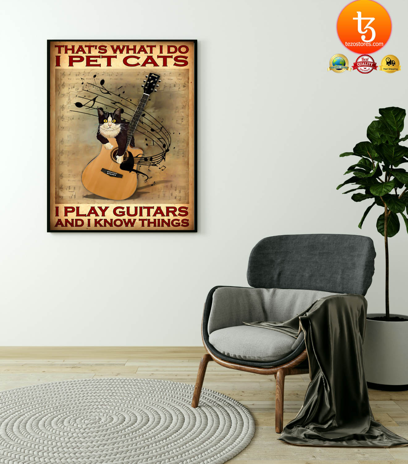 That's what I do I pet cats I play guitars and i know things poster 19
