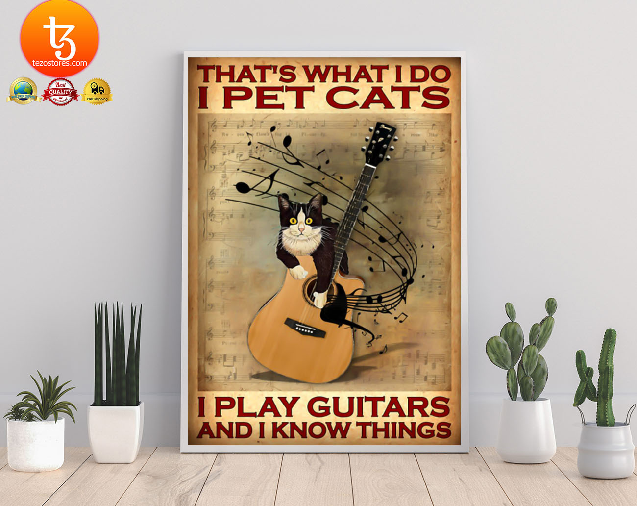 That's what I do I pet cats I play guitars and i know things poster 21
