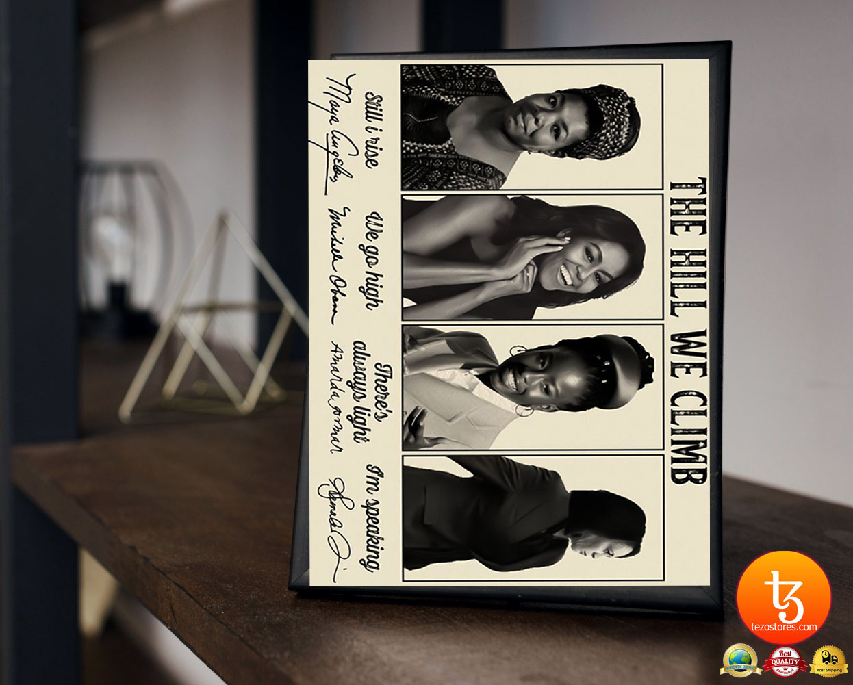 The Hill We Climb Maya Angelou, Michelle Obama, Amanda Gorman, Kamala Harris poster