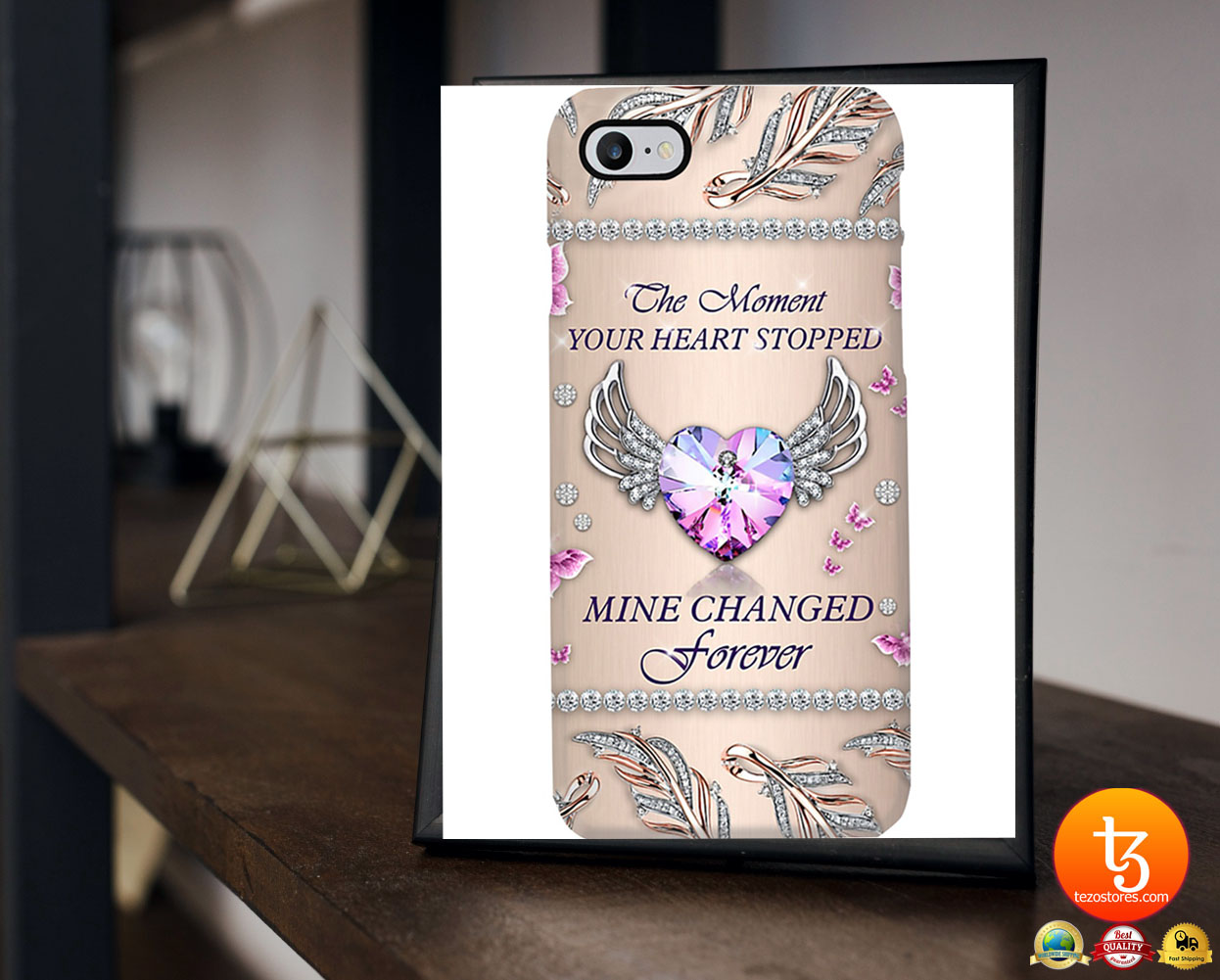 The moment your heart stopped mine changed forever phone case 21