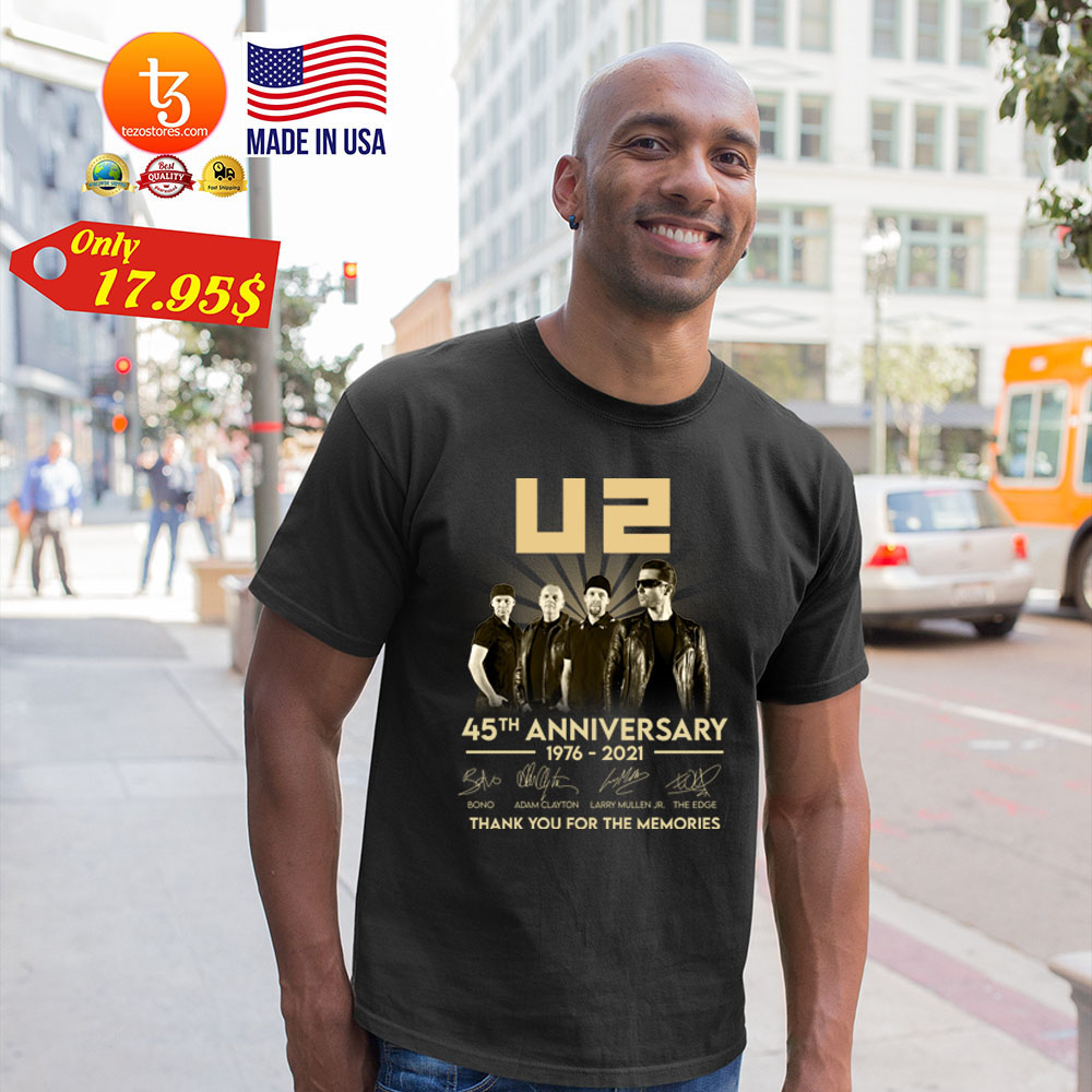 U2 45th anniversary 1976 2021 thank you for the memories Shirt 19