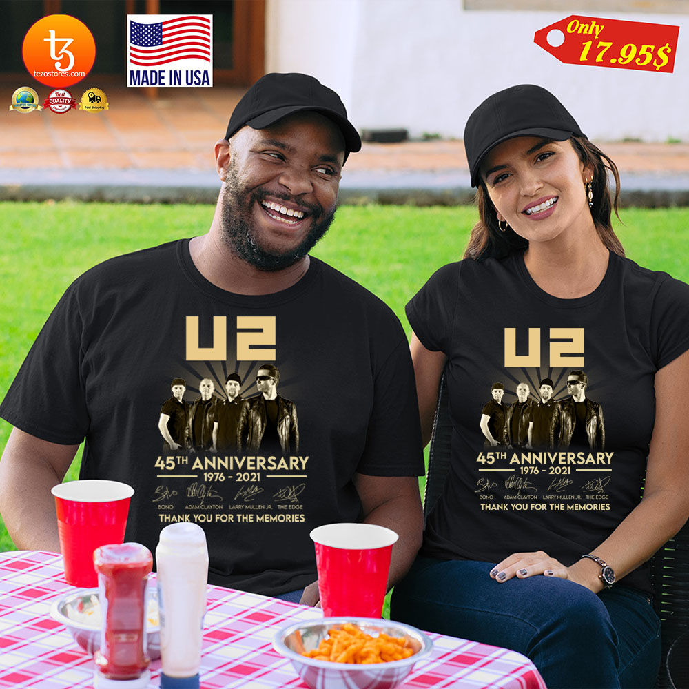 U2 45th anniversary 1976 2021 thank you for the memories Shirt 23