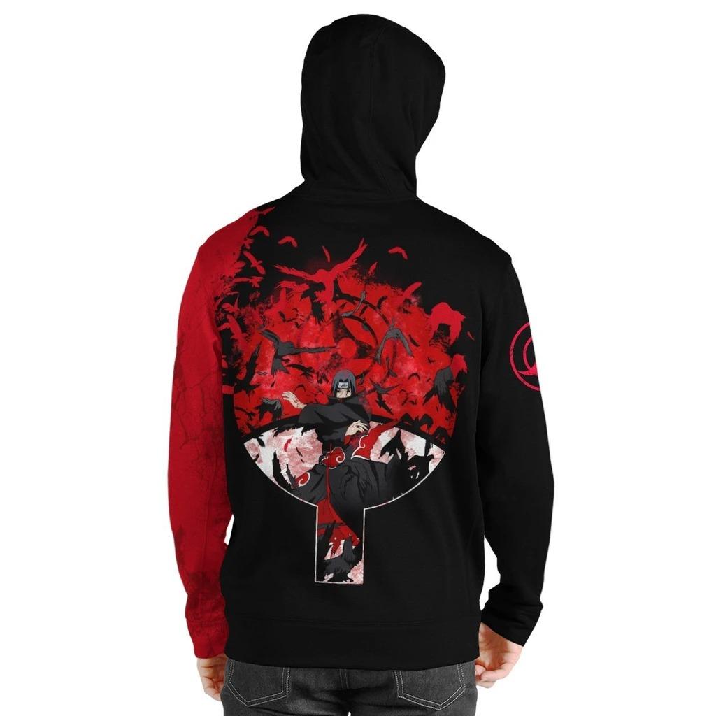 Uchiha Itachi crow 3D over print hoodie