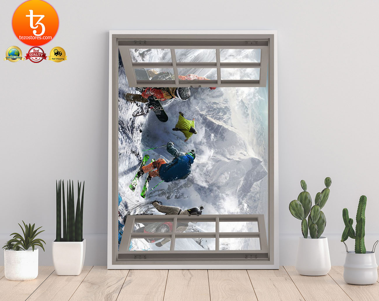 Winter sports window view poster 21