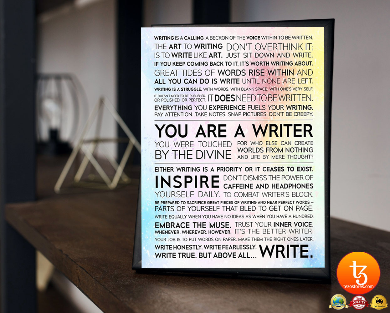 Writer Manifesto writing is a calling a beckon of the voice poster