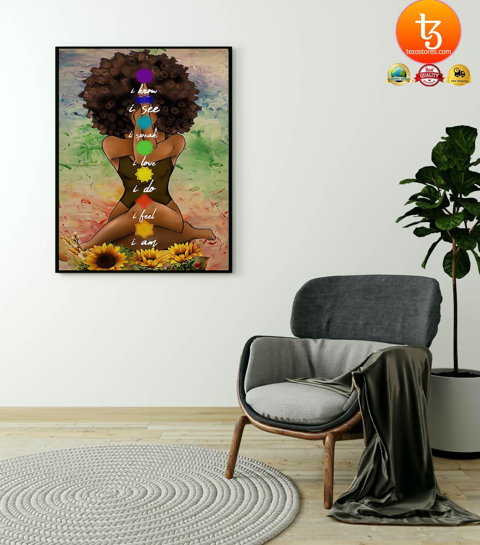 Yoga african american wall art poster 4