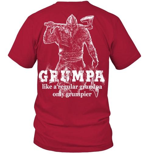 Grumpa like a regular grandpa only grumpier Shirt 4