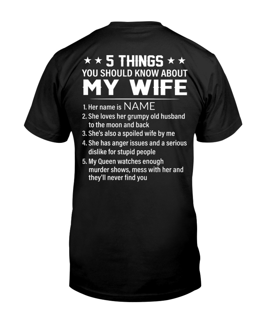 5 Things You Should Know About My Wife Shirt 23