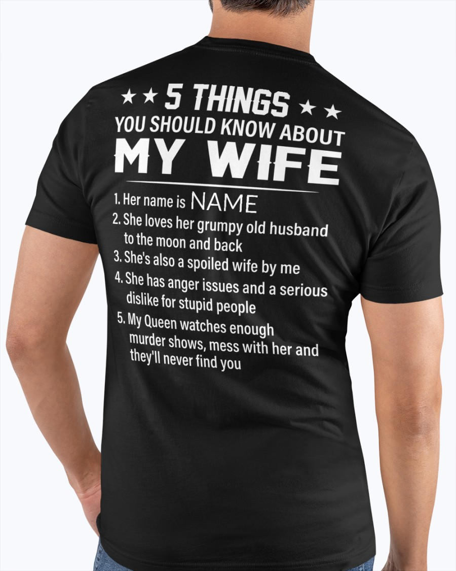 5 Things You Should Know About My Wife Shirt 4