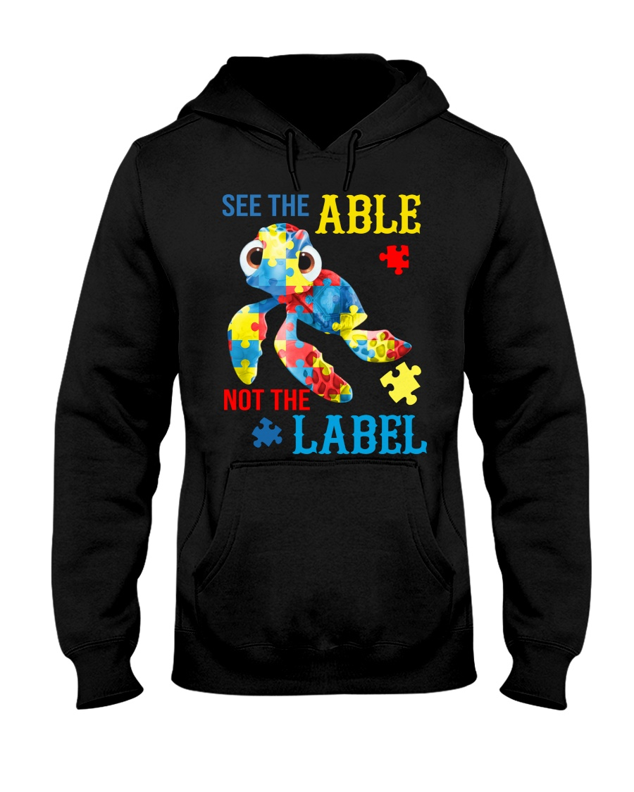 Autism Turtle See The Able Not The Label Shirt 19