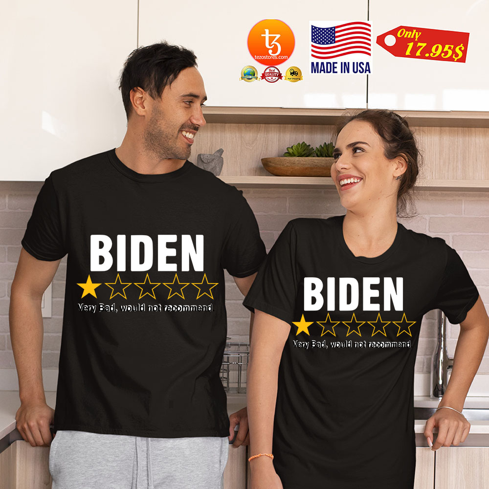 Biden 1 star very bad would not recommend shirt 4