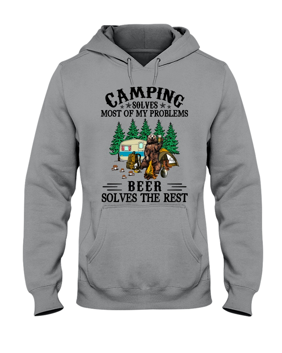Camping Solves Most Of My Problems Beer solves the rest Shirt 21
