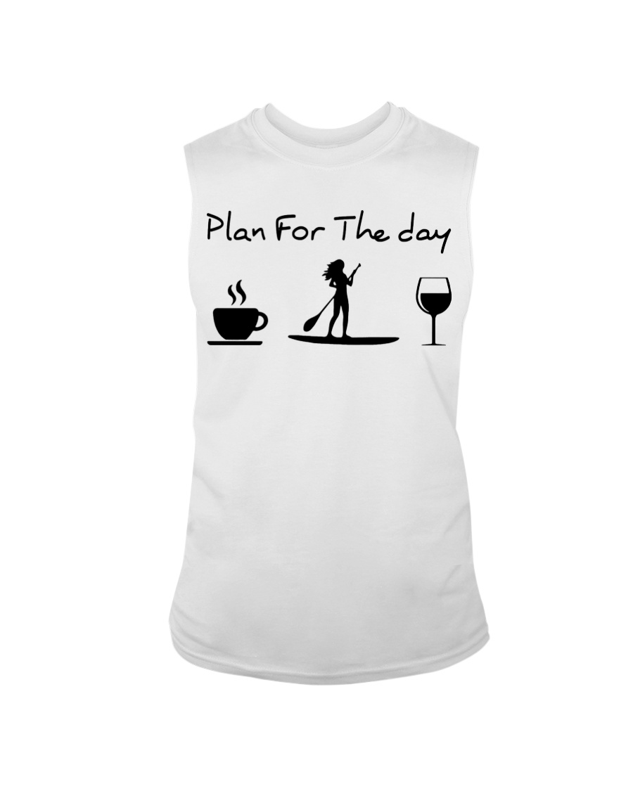 Coffee Paddle Poard Wine Plan For The Day Shirt 23