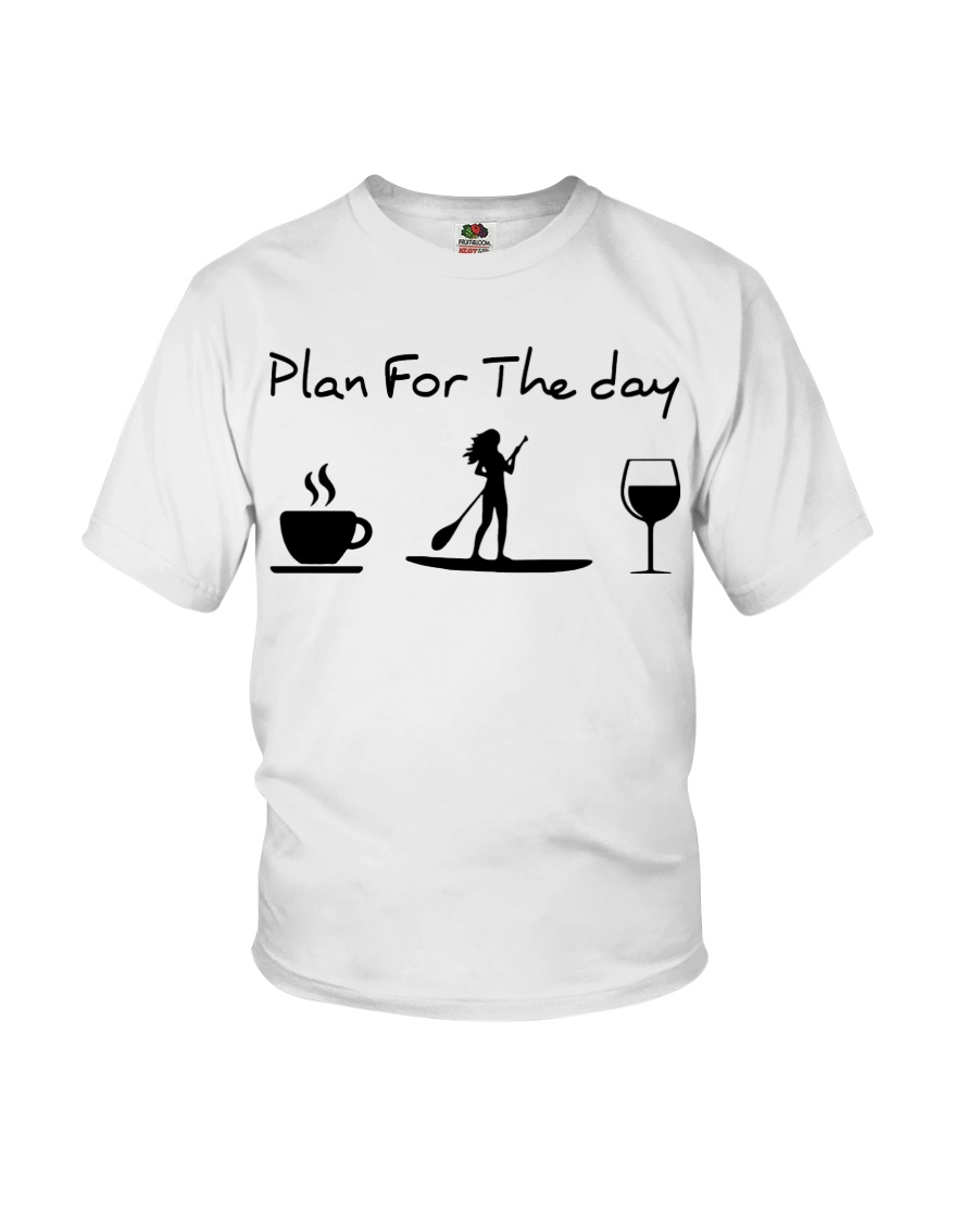 Coffee Paddle Poard Wine Plan For The Day Shirt 25